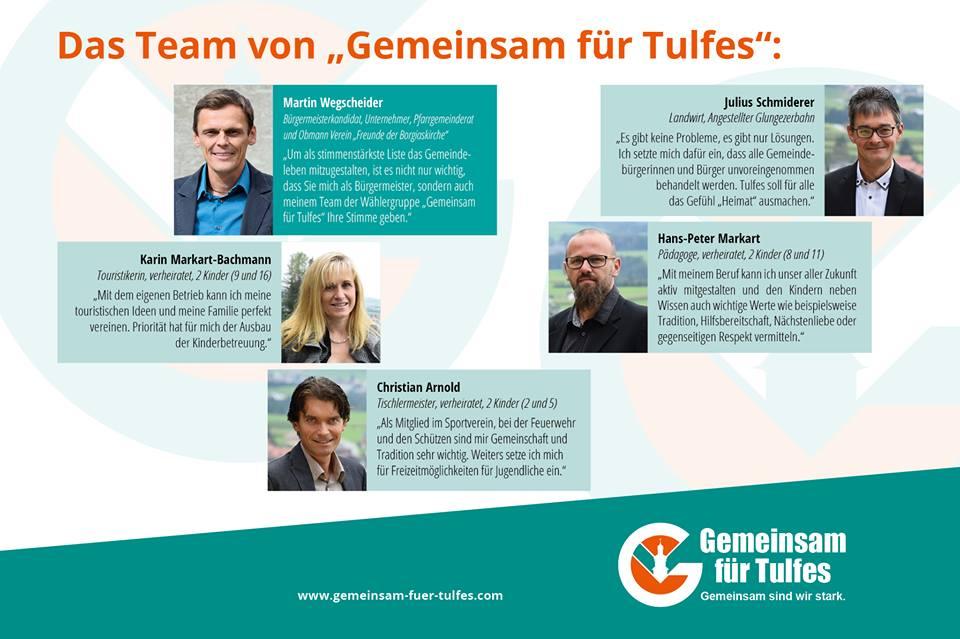 Team Gemeinsam für Tulfes 2016